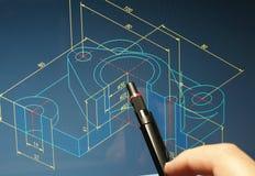 CAD-ritning Royaltyfria Bilder