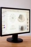 CAD-teknikerarbetsstation Arkivbild