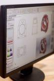 CAD-teknikerarbetsstation Arkivfoton