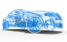 Cad wireframe Stock Photography