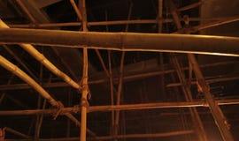 Cada bambu tem o forro dourado imagem de stock royalty free