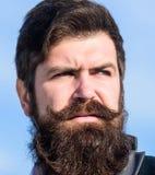 Cada barba totalmente única Cuidado de la barba y del bigote del pelo facial Tendencia de la moda de la barba Invierta en aspecto imágenes de archivo libres de regalías
