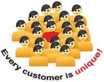 Cada cliente é original Fotografia de Stock Royalty Free