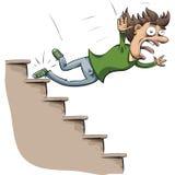 Caída de la escalera Imagen de archivo libre de regalías