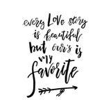 Cada Love Story é bonito mas nosso é meu favorito - Val feliz ilustração do vetor