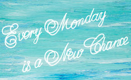 Cada segunda-feira é uma nova Fotos de Stock Royalty Free