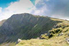 Cadair Idris峰顶, Dolgellau, Snowdonia,北部威尔士 图库摄影