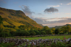The cadair idris mountain range in snowdonia Stock Images