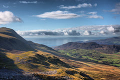 The cadair idris mountain range in snowdonia Stock Photo
