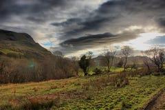The cadair idris mountain range in snowdonia Stock Photos