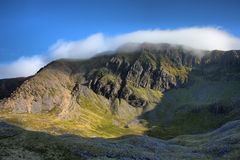The cadair idris mountain range in snowdonia Royalty Free Stock Photo