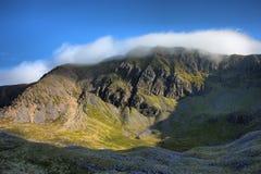 The cadair idris mountain range in snowdonia Royalty Free Stock Photo