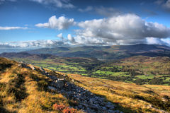 The cadair idris mountain range in snowdonia Royalty Free Stock Photography