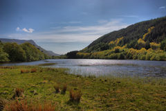 The cadair idris mountain range in snowdonia Stock Photography