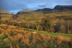 The cadair idris mountain range in snowdonia Royalty Free Stock Images