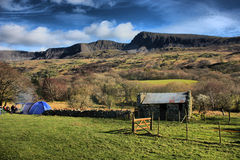 The cadair idris mountain range in snowdonia Royalty Free Stock Photos
