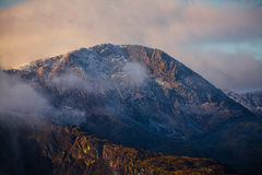 Cadair Idris mountain Snowdonia. Cadair Idris or Cader Idris is a mountain in Gwynedd, Wales, which lies at the southern end of the Snowdonia National Park near Royalty Free Stock Images