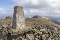 Cadair Idris Trig Point View Fotografia de Stock