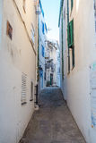 Cadaqués street. Photograph of a street in Cadaqués, Catalonia, Spain Royalty Free Stock Photography