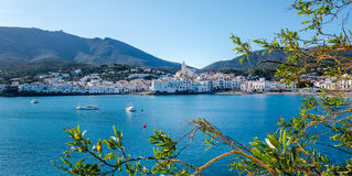 Cadaqués town. Photograph of Cadaqués town in a sunny day, Cadaqués, Catalonia, Spain Royalty Free Stock Images
