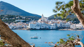 Cadaqués view. Photograph of Cadaqués coast in a sunny day, Cadaqués, Catalonia, Spain Royalty Free Stock Photography
