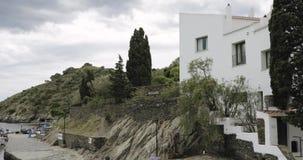 Cadaques, Καταλωνία, Ισπανία Άποψη του σπίτι-μουσείου του Salvador Dali απόθεμα βίντεο