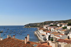 Cadaques. View of village of Cadaques (Costa Brava, Catalonia, Spain Royalty Free Stock Photos