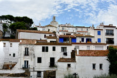 Cadaques. The beautiful white village of Cadaques at Costa Brava in spain. Salvador Dali lived there and means, Cadaques is the most beautiful town of the world Royalty Free Stock Photos