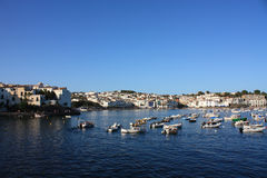 Cadaques and Boats in the bay royalty free stock image