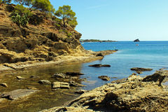 Cadaques-Bucht Lizenzfreies Stockfoto
