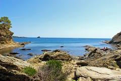 Cadaques-Bucht Stockfoto