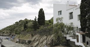 Cadaques, Catalonia, Spain. View Of Salvador Dali House-museum. Cadaques, Province Of Girona, Catalonia, Spain. View Of Salvador Dali House-museum stock video