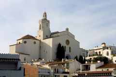 Cadaques church, Catalonia Royalty Free Stock Photos