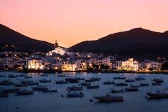 Cadaques, Costa Brava, Catalunia, Spain. Cadaques in sunset, Costa Brava, Catalunia, Spain stock photo