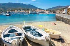 Cadaques, Costa Brava, Spain. Beach in Cadaques on Mediterranean seaside, Costa Brava, Catalonia, Spain Royalty Free Stock Images