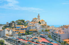 Cadaques, Costa Brava, Spain. View of Cadaques village on Mediterranean seaside. Costa Brava, Catalonia, Spain Stock Photos