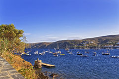 Cadaques harbor view from quay in summer Royalty Free Stock Photography