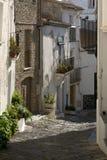 cadaques Katalonii street Zdjęcie Royalty Free