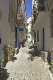 Cadaques, Mediterranean street Royalty Free Stock Photo