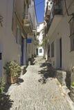 Cadaques, Mediterranean street Royalty Free Stock Photo