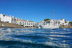Cadaques nadmorski wioski linia brzegowa Hiszpania Fotografia Royalty Free
