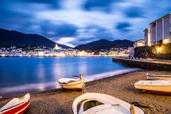 Cadaques. Night in Cadaques, the most picturesque village of Costa Brava Royalty Free Stock Photos