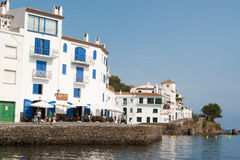 Cadaques promenade Mediterranean coast Stock Photos