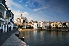 Cadaques promenade Mediterranean coast. Cadaques promenade along the Mediterranean coast of Costa Brava Stock Photo