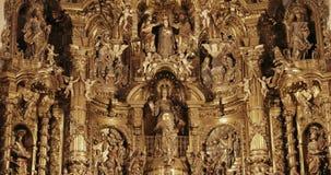 Cadaques, Province Of Girona, Catalonia, Spain. Altar Of Church of Santa Maria. Cadaques, Province Of Girona, Catalonia, Spain - May 14, 2018: Altar Of Church of stock footage