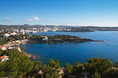 Cadaques and Sa Conca. Overall view of Cadaques Spain with Sa Conca in the foreground Stock Image