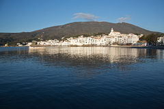 Cadaques Spain. Picturesque view of the Spanish coastal town of Cadaques Spain Stock Images