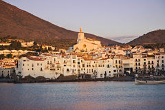 Cadaques Spain at Sunrise Stock Photos
