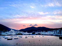 Cadaques Spain. Cadaques is a town in the Alt Empordà comarca in the province of Girona Catalonia Spain near Cap de Creus cape Costa Brava of the royalty free stock image