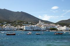 Cadaques, Spain. Vista da vila Fotografia de Stock Royalty Free